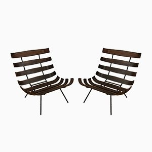 Brazilian Rosewood Model Costela Lounge Chairs by Martin Eisler & Carlo Hauner for Forma, 1950s, Set of 2