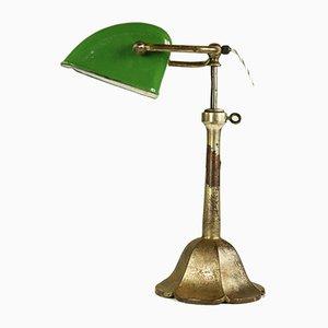 Emaillierte Tischlampe, 1930er