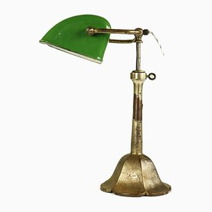 Enamel Banker's Lamp, 1930s