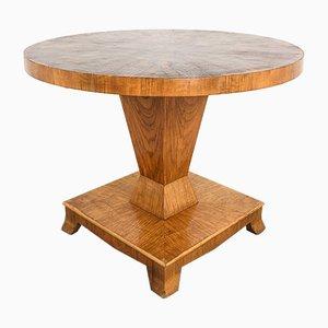 Art Deco Walnut Dining Table, 1920s