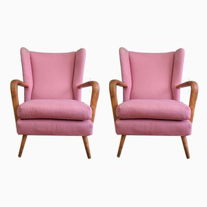 Pink Bambino Armchairs by Howard Keith, 1950s, Set of 2