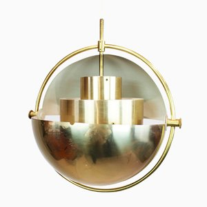 Brass Pendant Lamp by Louis Weisdorf for Lyfa, 1960s