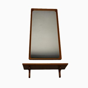 Mid-Century Swedish Teak-Framed Mirror from Markaryd