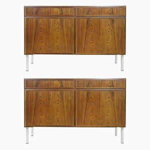 Danish Upcycled Rosewood and Teak Cabinets by Omann Jun, 1960s, Set of 2