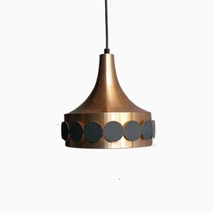 Copper Plated Pendant Lamp from Doria Leuchten, 1960s