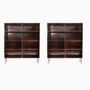 Rosewood Bookcases by Omann Jun, 1960s, Set of 2