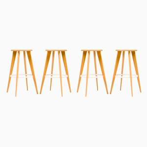 Bar Stools by Jean Prouvé for Vitra, 2002, Set of 4