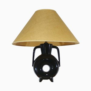 Schwarze Vintage Tischlampe