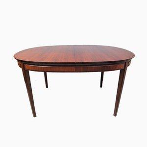 Mesa de comedor ovalada de teca, años 60