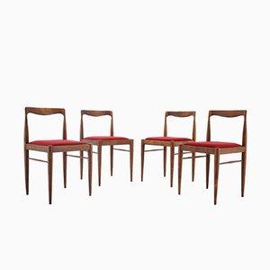 Sillas de comedor minimalista de Drevotvar, años 70. Juego de 4