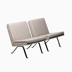 Architektonische Sessel im skandinavischen Stil, 1960er, 2er Set