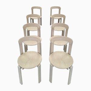 Esszimmerstühle von Bruno Rey für Dietiker, 1970er, 8er Set