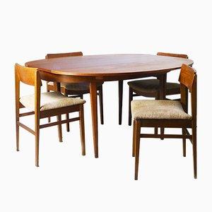 Juego de mesa y sillas de comedor Mid-Century de Greaves & Thomas, años 60