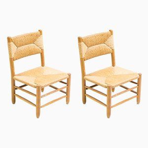 Rush Chairs by Charlotte Perriand, 1950s, Set of 2