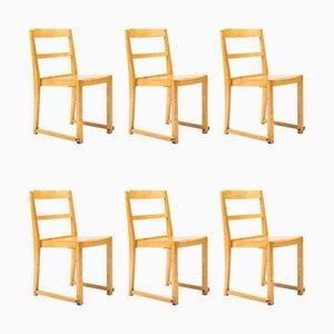 Chaises de Salle à Manger Empilables Vintage par Sven Markelius, Set de 6