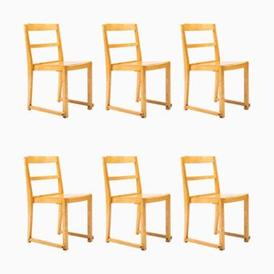 Vintage Stacking Dining Chairs by Sven Markelius, Set of 6