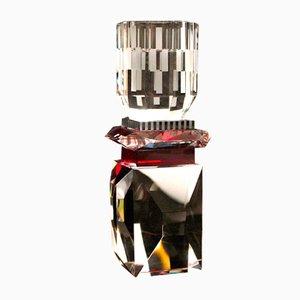 Handgeformter Nevada Teelichthalter aus Kristallglas von Reflections Copenhagen