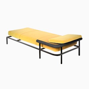 Sofá cama X-Rays de cuero de Alain Gilles