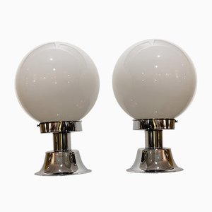 Space Age Opaline Table Lamps, 1970s, Set of 2