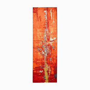 Indian Handmade Pasillera Wool & Silk Carpet with Reflection of New York City by IKT Handmade