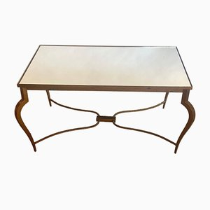Gold Iron Coffee Table by René Prou, 1940s