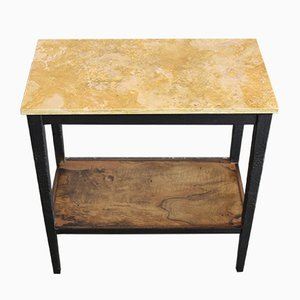 Vintage Travertine Console Table, 1930s
