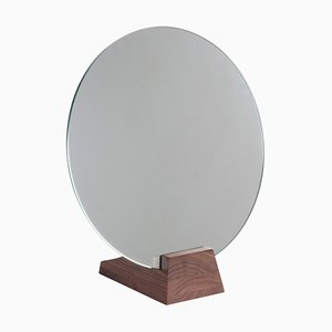 Black Lacquered Birch Lalou Mirror by Jacques Emile Rulhmann