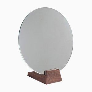 Specchio Lalou in legno di betulla laccato nero di Jacques Emile Rulhmann