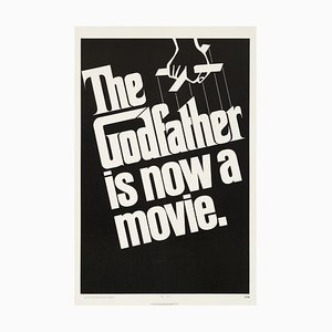 Vintage The Godfather Film Poster by S. Neil Fujita, 1972