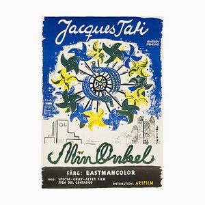 Affiche de Film Vintage Mon Oncle de Jacques Tati par Olle Olsson Hagalund, 1959