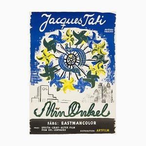 Poster vintage del film Mon Oncle di Olle Olsson Hagalund, 1959