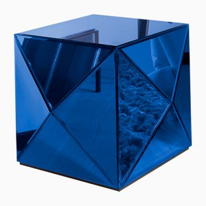 Mirrored Glam Rock Cobalt Coffee Table by Reflections Copenhagen