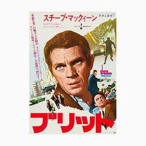 Vintage Steve McQueen Bullitt Film Poster, 1974