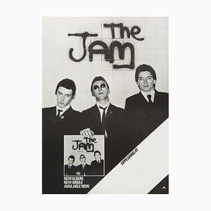 Poster vintage del tour inglese dei The Jam, 1977