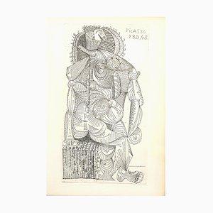 Aguafuerte de mujer sentada de Pablo Picasso, 1943