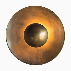Brass Metropolis Eclipse Sconce by Jan Garncarek