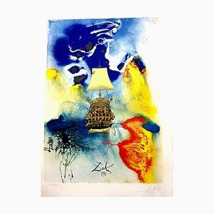 Serigrafia Man and the Sea di Salvador Dali, 1971