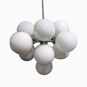 Lámpara de araña de cromo, años 70