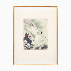 Aguafuerte David and the Lion de Marc Chagall, 1958