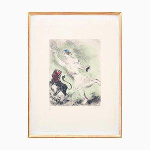 David and the Lion Radierung von Marc Chagall, 1958