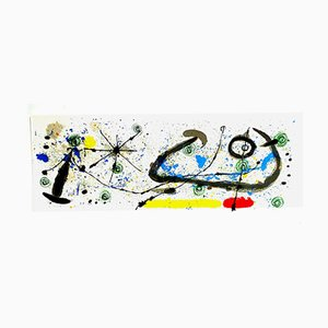 Plate 8 from the Lizard Gold Feathers Lithograph by Joan Miró, 1967