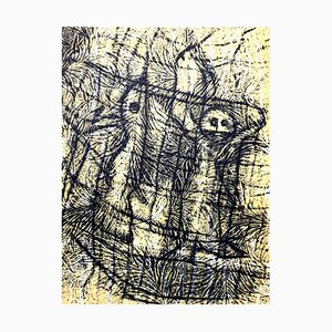 Composition Lithograph by Max Ernst, 1958