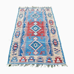 Small Turkish Wool Kilim Rug, 1970s