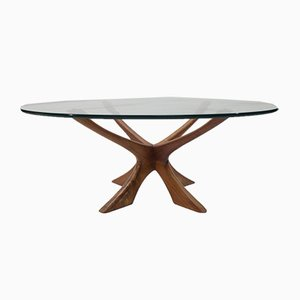 Danish Model T118 Coffee Table by Illum Wikkelsø for Niels Eilersen, 1960s