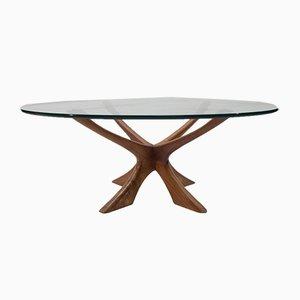 Table Basse Modèle T118 par Illum Wikkelsø pour Niels Eilersen, Danemark, années 60