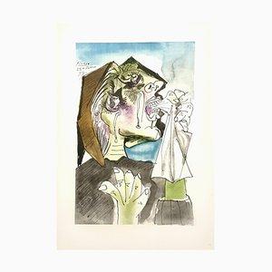 Lithographie Femme en Pleurs, Réimpression, par Pablo Picasso, 1946