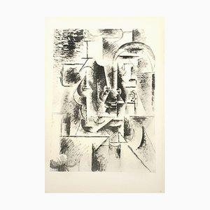 Litografia Man with Pipe di Pablo Picasso, 1946