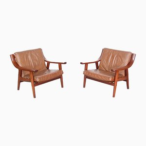 Mid-Century Model GE-530 Lounge Chairs by Hans J. Wegner for Getama, Set of 2