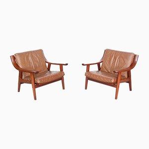 Mid-Century Modell GE-530 Sessel von Hans J. Wegner für Getama, 2er Set