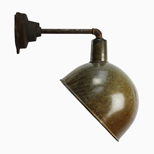 Mid-Century Enamelled Cast Iron Wall Lamp